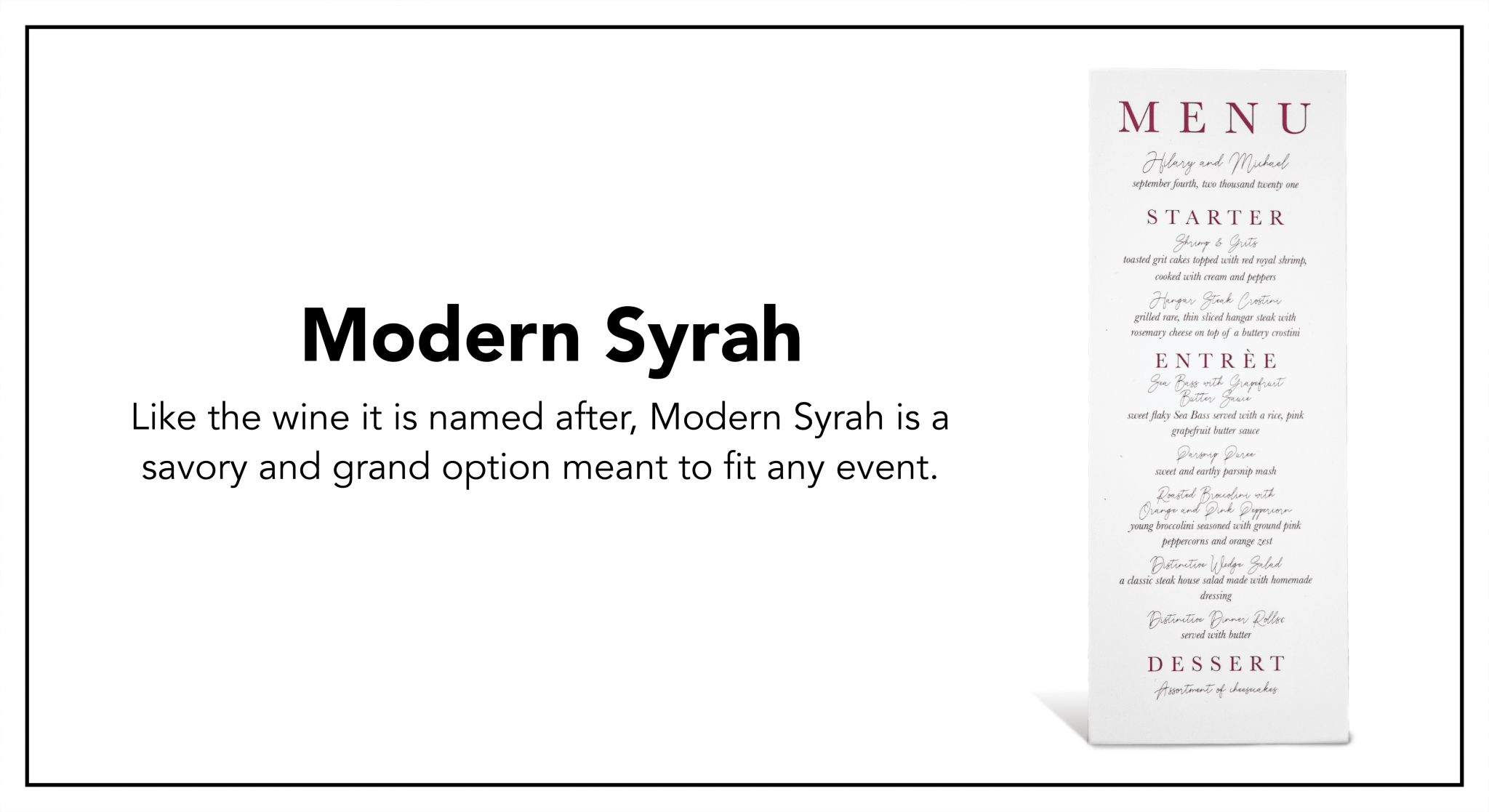 MODERN SYRAH